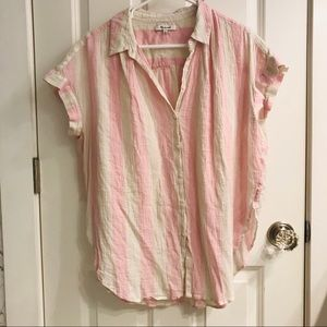 Madewell Central Tunic Shirt in Cara Stripe